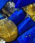 Лазурит и рутилированный кварц